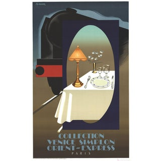 Pierre Fix Masseau Orient Express Lithograph Poster