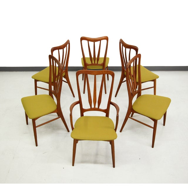 Danish Teak Koefoed Hornslet Dining Chairs -Set 6 - Image 2 of 8