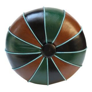 Mid-Century Modern Multicolored Naugahyde Pouf