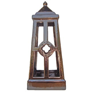 Glazed Ceramic Bronze Candle Lantern