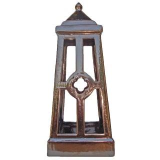 Glazed Ceramic Bronze Candle Lantern