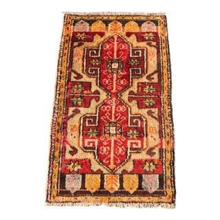 Vintage Turkish Anatolian Rug- 1′11″ × 3′5″