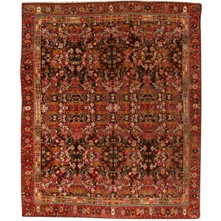 Antique 19th Century Indian Agra Mirzapour Carpet