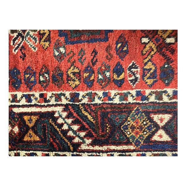 Persian Tribal Rugs: 1910 Persian Tribal Rug From Sharas - 3′8″ × 4′10″