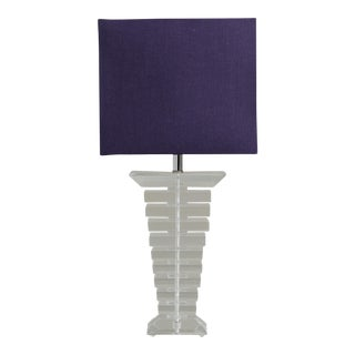 A Large Stacked Lucite Table Lamp 1970s