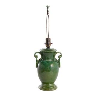 Green Glazed Jug as a Lamp