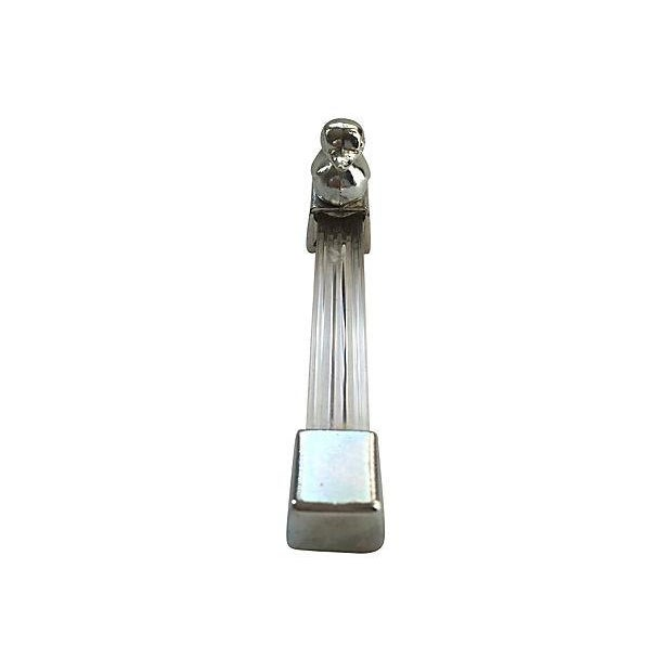 Image of English Lucite Duck Knife Rests - S/5