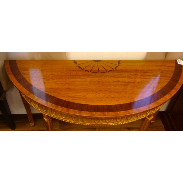 Wooden Demilune Table - Image 3 of 6