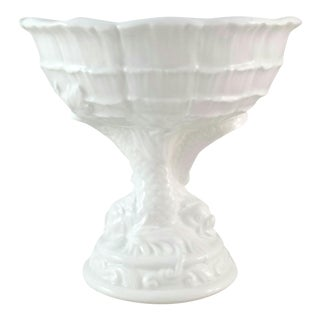 Chinoiserie Ceramic Pedestal Bowl