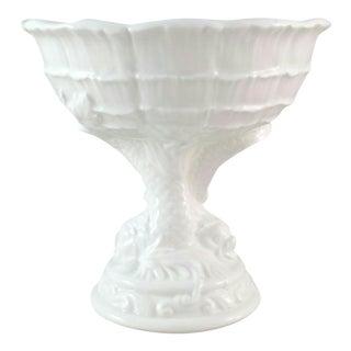 Chinoiserie Ceramic Pedestal Bowl