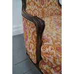 Image of French Louis XV Vintage Red Bergere Chairs - Pair