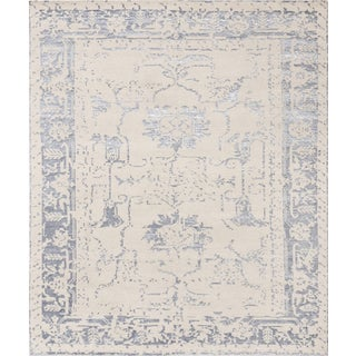Pasargad Silk Fusion Silk & Wool Rug - 6′ × 6′