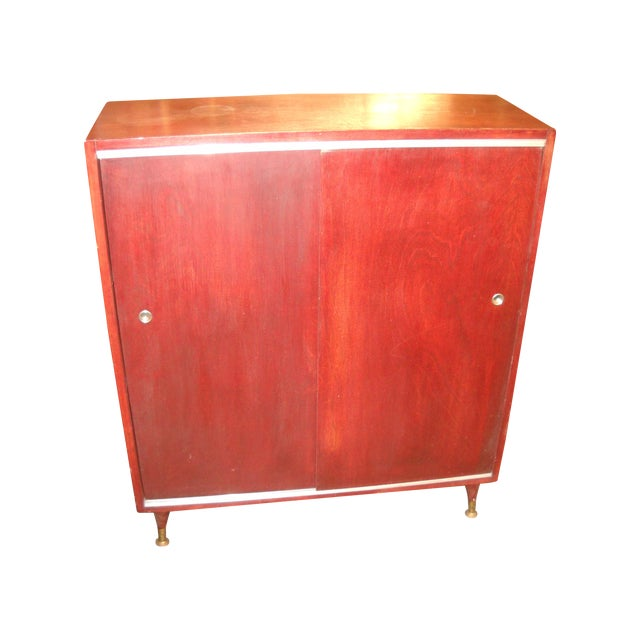 Vintage Midcentury Modern Record Cabinet - Image 1 of 11
