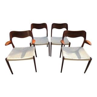 Arne Hovmand Olsen for Moller 55 Dining Chairs - Set of 4