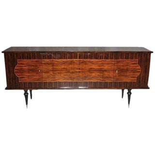 French Art Deco Macassar Ebony Sideboard