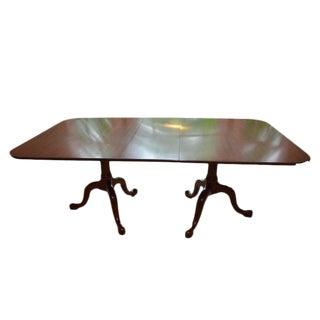 Henkel Harris Queen Anne Style Pedestal Dining Table