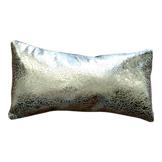 Gambrell Renard Gold Leather & Velvet Pillow