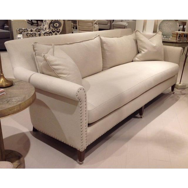 Lillian August Paris Linen Sofa - Image 3 of 9