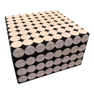 White Leather Studded Storage Box