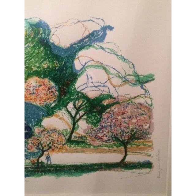 "Ronald Christensen ""Blue Bridge"" Lithograph - Image 8 of 8"