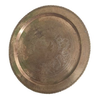 Bohemian Brass Table Charger