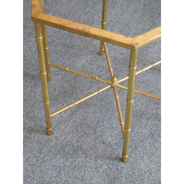 Brass Side Tables by Mastercraft - Pair - Image 5 of 7