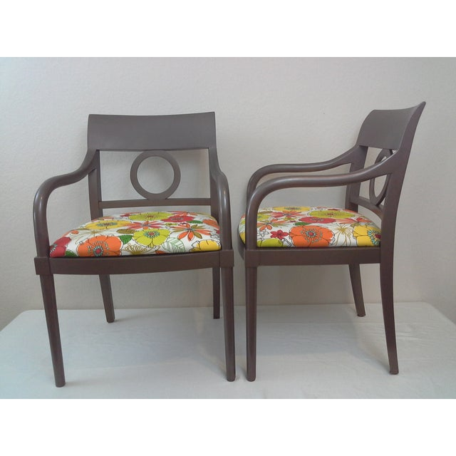 Edward Axel Roffman Floral Chairs - A Pair - Image 3 of 5