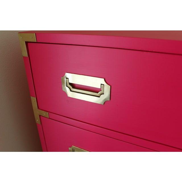 Hot Pink Vintage Dixie Highboy Campaign Dresser - Image 7 of 8