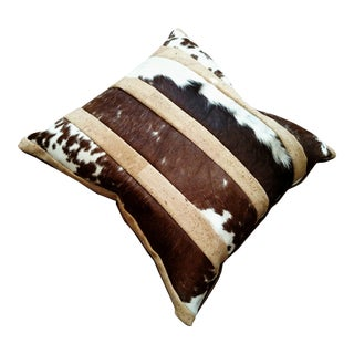 Gambrell Renard Leather Cowhide & Cork Pillow