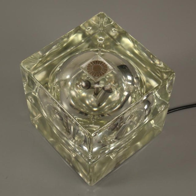 Cubosfera Glass Table lamp by Alessandro Mendini, Italy, 1960s - Image 2 of 4