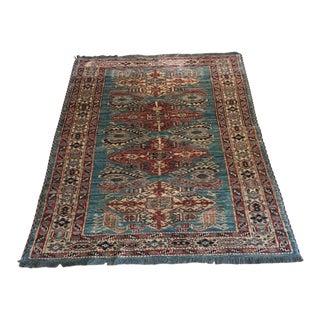 Vintage Turkish Wool Rug - 3′9″ × 5′3″