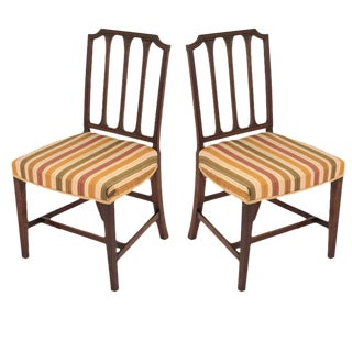 Mahogany Sheraton Chairs - A Pair
