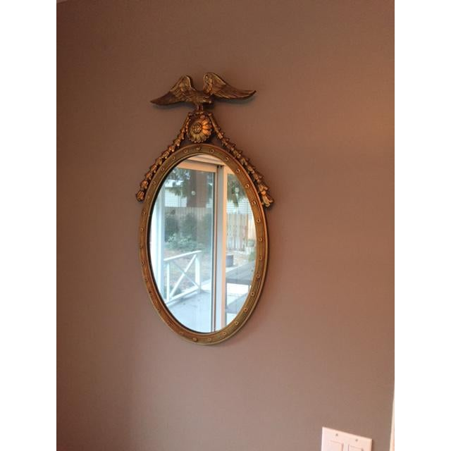 Federal Style Oval Mirror - Image 3 of 7