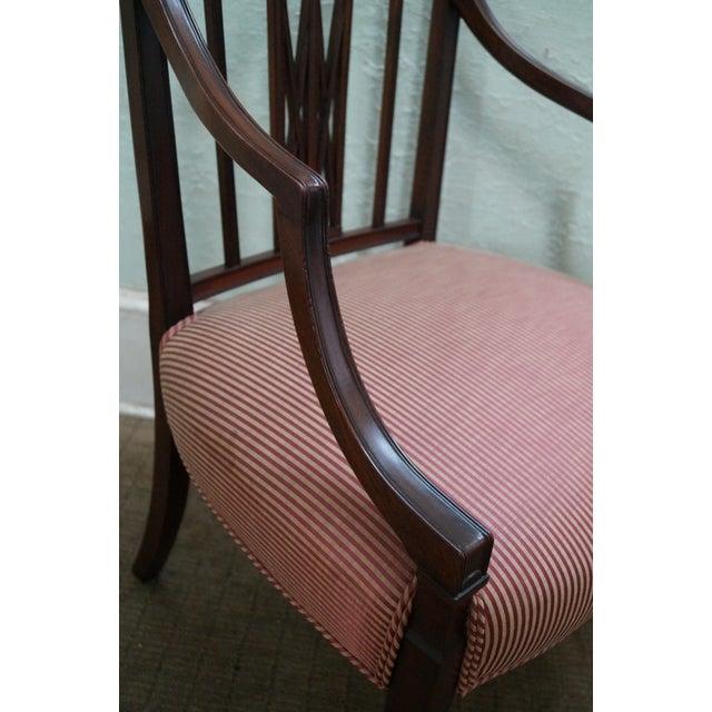 Image of 1940s Mahogany Hepplewhite Dining Chairs -Set of 6