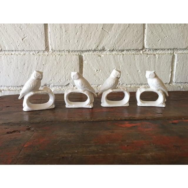 Bone China Owl Napkin Rings - Set of 4 - Image 2 of 5