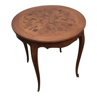 Beautiful Inlaid French Coffee Parlor Table, 1900s