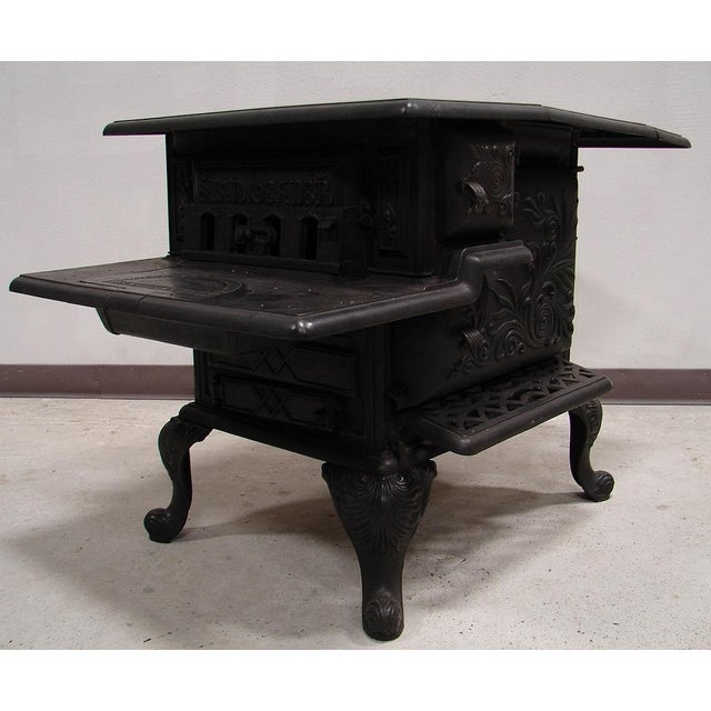 Image of Antique 1896 Southern Works Iron Wood Cook Stove