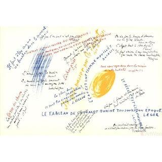 Jean Rene Bazaine, Composition-VI-VII-197, 1972 Lithograph