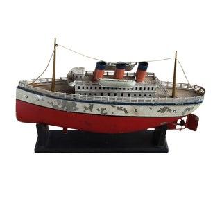 Vintage Steam Cruise Ship Model