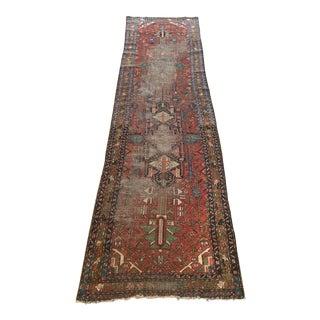 """Vintage Persian Wool Runner Rug - 3' X 10'10"""""""