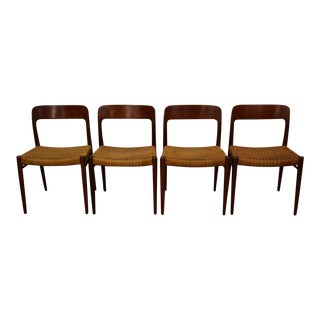 Niels Møller Model 75 Teak Dining Chairs - Set of 4
