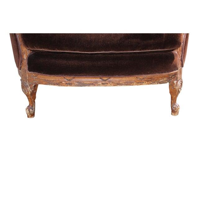 Vintage Mohair Velvet Chair - Image 7 of 10