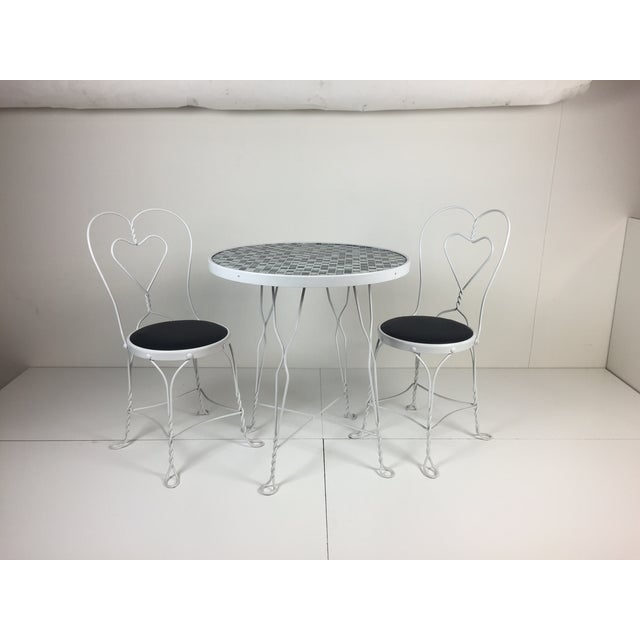 Vintage Restored Ice Cream Dining Set - Image 2 of 6
