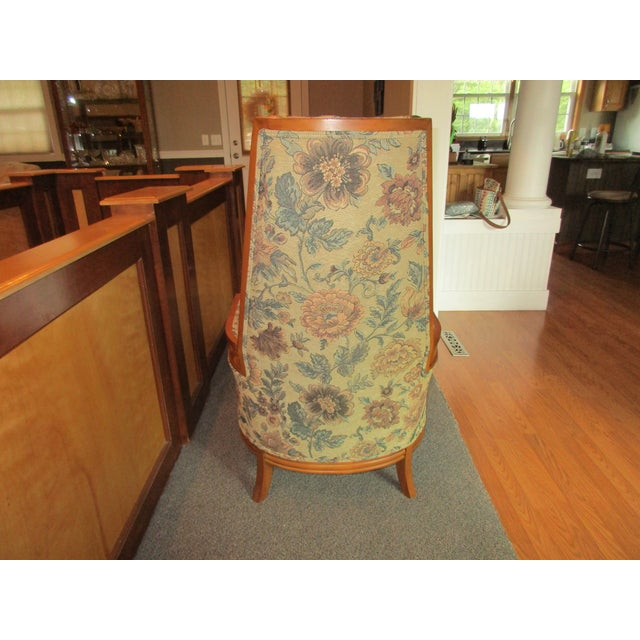 Tufted High Back Armchair - Image 10 of 11