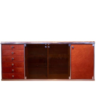 Alcantara & Marble Credenza by Guido Faleschini for Mariani by Hermes