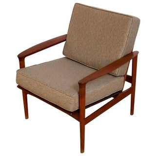 1960s Vintage Danish Modern Teak Lounge Chair