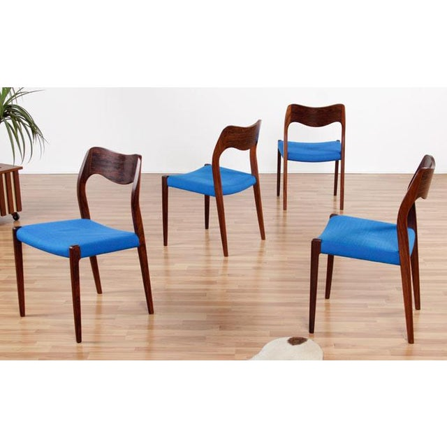 Image of Moller Mid-Century Rosewood Chairs - Set of 4