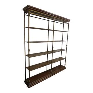 Vintage Spanish Style Wrought Iron Bookcase