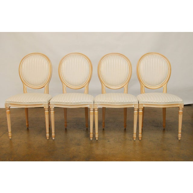 Louis XVI Dining Chairs - Set of 4 - Image 2 of 9