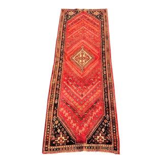 Vintage Persian Qashghi Runner - 3′5″ × 9′10″